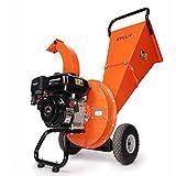 EFCUT C30 Wood Chipper Shredder Mulcher 7 HP 212cc Heavy Duty Engine Gas Powered 3 inch Max Wood Diameter Capacity Reduction Ratio 20:1, EPA Certified, 2-Year Warranty