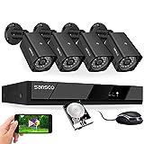 [5MP Video & Audio Recording] SANSCO 5MP HD PoE CCTV Security Camera System