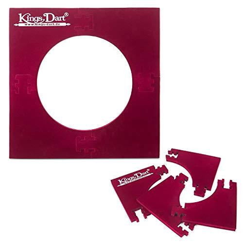 Kings Dart Backboard | Surround für Dartscheiben mit Ø 45 cm | Rot | 70x70 cm Standard