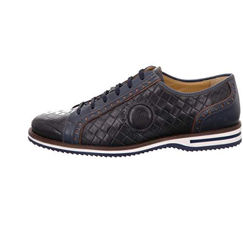 Galizio Torresi Sneaker Glatt Leder Blau Herren Schuhe > Herren Schnürschuhe > Herren Schnürschuhe Klassisch Größe 42