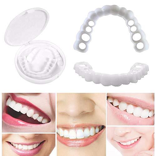 Zahnersatz Dental Provisorischer Sofortiges Lächeln Whitening Perfekte Smile Natürlich Komfort Kosmetikfurnier Tragbar Prothese Pflege kosmetische Zähne Mann Frau Universal