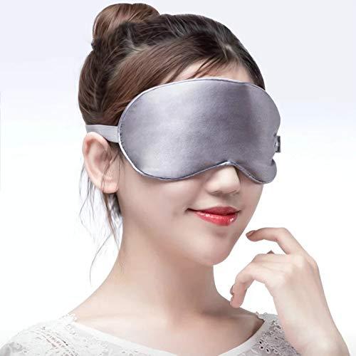 FHW Mascarilla De Calentamiento USB, Reutilizable, Mascarilla De Vapor De Seda, Masajeador De Ojos, Alivio De La HinchazóN De Los Ojos, Cuidado De Los Ojos Anti-CíRculos Oscuros,Gris