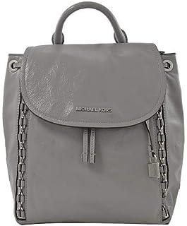 Michael Kors Women's Backpack Sadie Metal Braided pebble leather - Gray