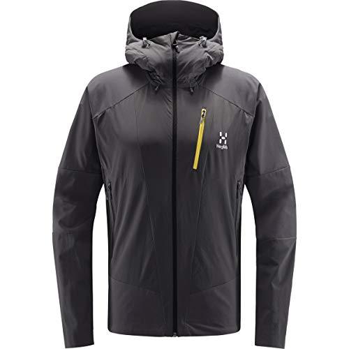 Haglöfs Softshelljacke Herren Skarn Hybrid Jacket wasserabweisend, windabweisend, elastisch, atmungsaktiv Magnetite XL XL