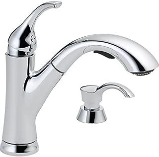 Delta Kessler Chrome 1-handle Pull-out Deck Mount Kitchen Faucet Model # 16932-SD-DST
