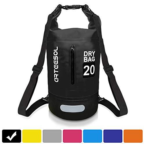 arteesol Dry Bag Waterproof Bag, 5L 10L 20L 30L Dry Bag Rucksack Waterproof Backpack Phone Keys Baggage Dry Sack Swim Bags for Kayaking Boating Swimming Canoeing Paddle Boarding Hiking Camping