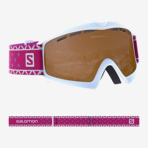 Salomon, Kiwi Access, Kinder-Skibrille (3-6 Jahre), Weiß/Universal Tonic Orange, L39911100