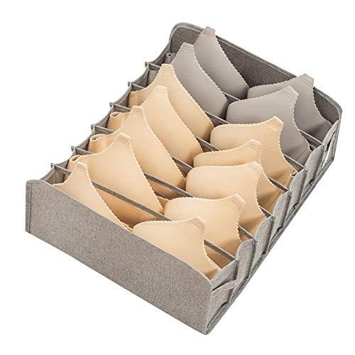 Caja de almacenamiento de ropa interior plegable cajón organizador divisor armario caja de almacenamiento para ropa interior, sujetadores, calcetines, bufandas corbatas