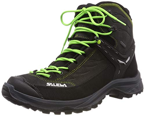 Salewa Herren MS Hike Trainer Mid Gore-TEX Trekking- & Wanderstiefel, Black Out/Green, 43 EU