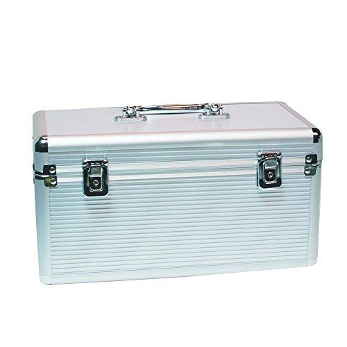 LogiLink UA0219 Aluminium Schutzkoffer für bis 8X 8,9 cm (3,5 Zoll) und 6X 6,4 cm (2,5 Zoll) HDDs