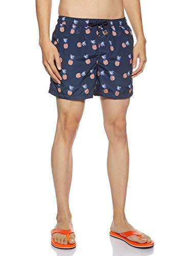 JACK & JONES Herren JJICALI JJSWIM AKM Fruit Shorts, Mehrfarbig Navy Blazer, Large (Herstellergröße: L)