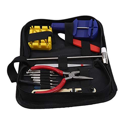 YiYour - Kit de herramientas de reparación de relojes, 16 piezas, kit de herramientas de ajuste de correa y pasador de barra de resorte