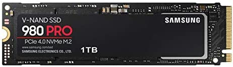 Samsung 980 PRO 1 TB PCIe 4.0 (bis zu 7.000 MB/s) NVMe M.2 (2280) Internes Solid State Drive (SSD) (MZ-V8P1T0BW)