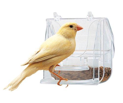 Ferplast 84522724 Pretty 4522 Gamelle pour Oiseaux Transparent 9 x 9 x 9 cm