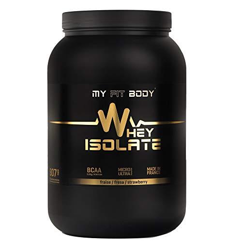 My Fit Body - Whey Isolate Elite - Proteina di Siero di Latte - Ideale per Aumentare la Massa Muscolare- Integratore Sportivo - Proteina in Polvere - Proteina Isolata - Gusto Fragola - 907 gr.