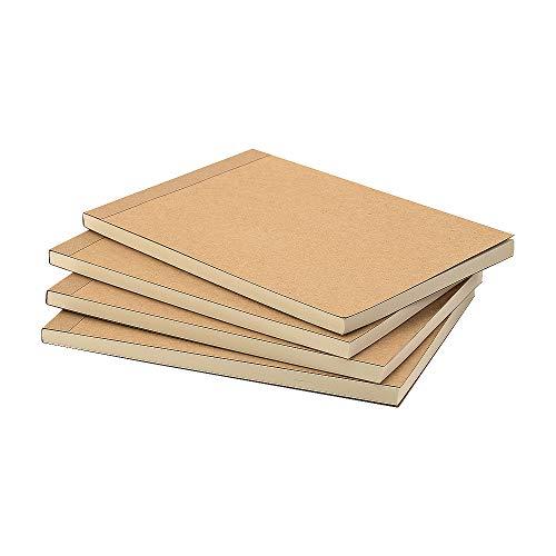 VEESUN Bloc de Dibujo A5, 4pcs Libreta Pequeña Diarios Cuaderno de Notas en Blanco para Escolar Escribir Professor Viajes o Como un Diario, 14.5 x 21cm