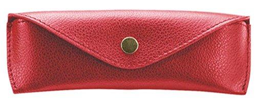 Alassio Alassio Brillen - Etui aus echtem Leder, groß, ca. 16 x 7 x 4 cm Taschenorganizer, 16 cm, Rot
