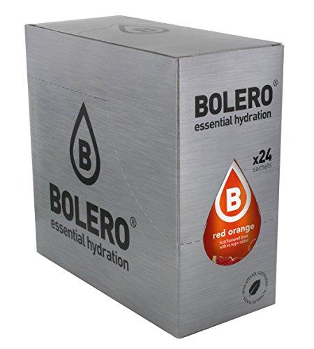 Bolero Bebida Instantánea sin Azúcar, Sabor Naranja Roja - Paquete de 24 x 9 gr - Total: 216 gr