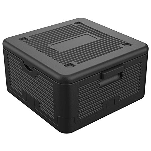 HAC24 Thermobox Klappbar 17 L Isolierbox 41x38x22cm Transportbox Faltbar Styroporbox Schwarz Warmhaltebox Kühlbox …