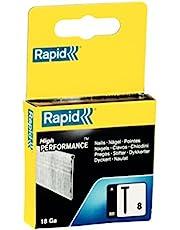 Rapid Nagel type 8, 15 mm diopopnagels 18 Ga, 2.000 stk, voor nietjes, persluchtnagels en elektronicaats