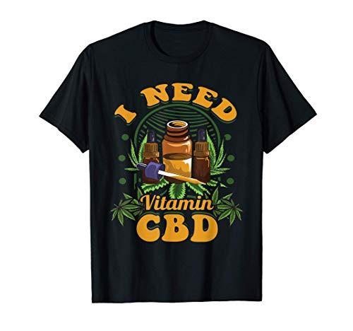 Aceite CBD Vitamina CBD Pun Amante del cáñamo Camiseta