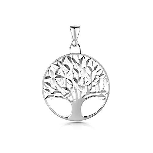Amberta Joyas - Colgante Árbol de la Vida en Plata de Ley 925 para Mujer - Varios Modelos - Amuleto Protector