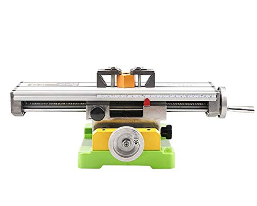 Best Buy! GHGJU Mini Lathe,Bench Drill Multifunctional Cross Table,high Precision Sliding Table,Alum...