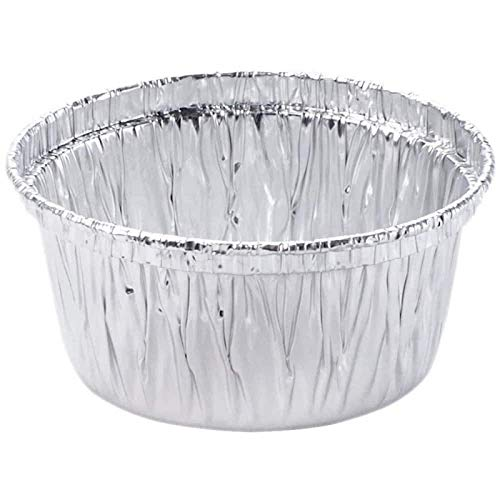 Aluminum Foil Disposable Baking Ramekin - 4 oz Utility Cup - Made in USA (Pack of 100)