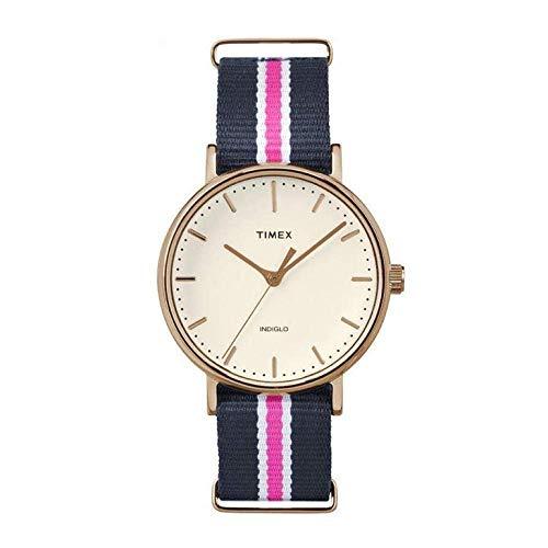 Timex Reloj Analogico para Mujer de Cuarzo con Correa en Tela TW2P91500