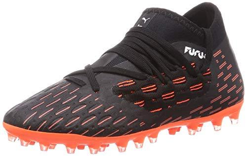 PUMA Future 6.3 Netfit MG JR, Zapatillas de fútbol, Negro Black White/Shocking Orange, 35.5 EU