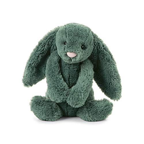 Jellycat Bashful Forest Bunny Stuffed Animal, Medium 12 inches