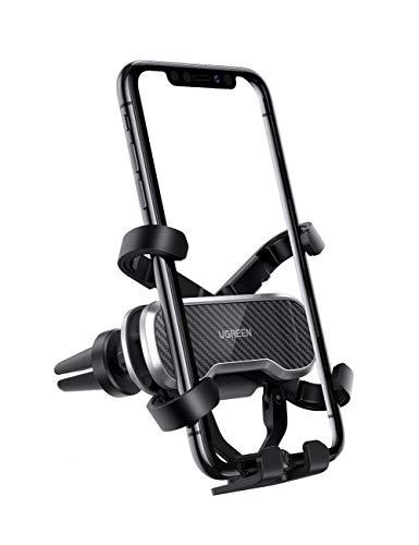 UGREEN Handyhalterung Auto Lüftung Autohalterung Handy KFZ Handyhalter fürs Auto Schwerkraft Auto-Handyhalterung kompatibel mit iPhone 11 XS, Huawei P30 Mate 20, Samsung S20 A50, XiaoMi usw. bis 7.2''