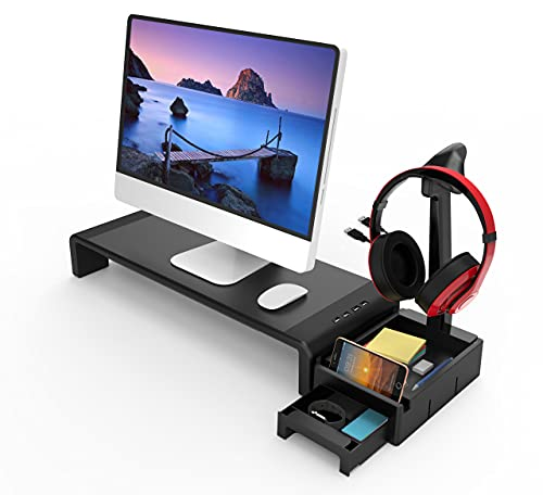 Tuo3eu Soporte para Monitor y Portátil Ordenador con 4 Longitud...