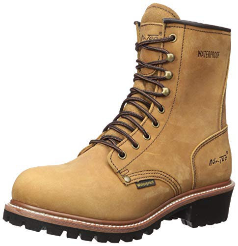 """Ad Tec 9"""" Super Logger Soft Toe Boots for Men, Leather Goodyear Welt Construction & Utility Footwear, Durable and Long Lasting Work Shoes, Lug Sole, Brown Waterproof, 8 W US (Brown, 9.5)"""