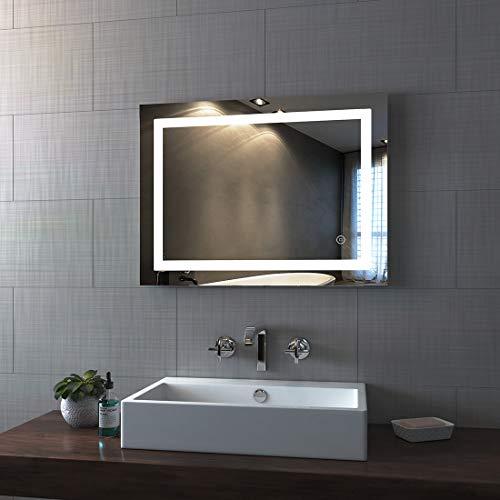 Badkamerspiegel, lichtspiegel, wandspiegel met LED-verlichting, badkamerspiegel, lichtspiegel, IP44, energiebesparend