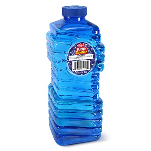 Kidzlane Bubble Solution Refill (68 oz.) Large, Easy-Grip Bottle | for Toy Guns, Wands, Electric...