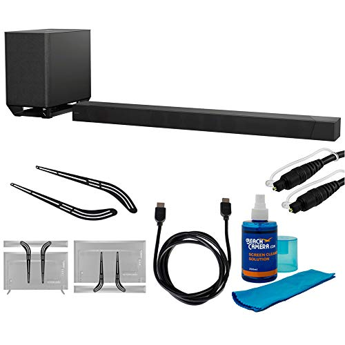 """Sony 7.1.2ch 800W Dolby Atmos Sound Bar (HT-ST5000) with Soundbar Bracket 23"""" - 55"""", 6ft HDMI Cable, 6ft Optical Audio Cable & Universal Screen Cleaner for LED TVs"""