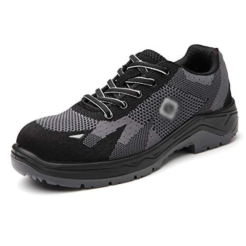 pas cher un bon Chaussures de sécurité de travail légères ZYFXZ pour hommes avec embout en acier renforcé et semelle en acier …