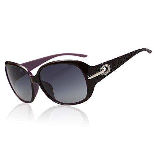 DucoMujerGafasdesolClassicFashionableLadiesconlentespolarizadasdegrantamaño100%protecciónUV6214 (Púrpura brillante)