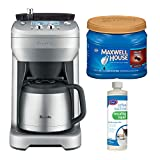Breville BDC650BSS The Grind Control Coffee Grinder (Stainless Steel) with Descaling Liquid and Medium Roast Ground Coffee Bundle (3 Items)