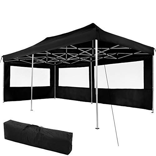 tectake 403159 Hopfällbart partytält Viola 3x6 m med 2 sidodelar - svart