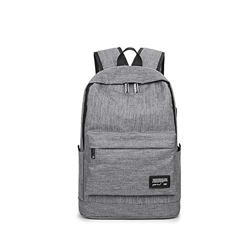 Travel Laptop Backpack, Professional Business Backpack Bag With USB Charging Port, Slim Lightweight Laptop Bag, Water Resistant School Rucksack For Women Men, Fits 14 Inch Laptop And Notebook-Grey