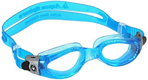 Aqua Sphere Kaiman Schwimmbrille, blau transparent/transparentes Glas, Einheitsgröße