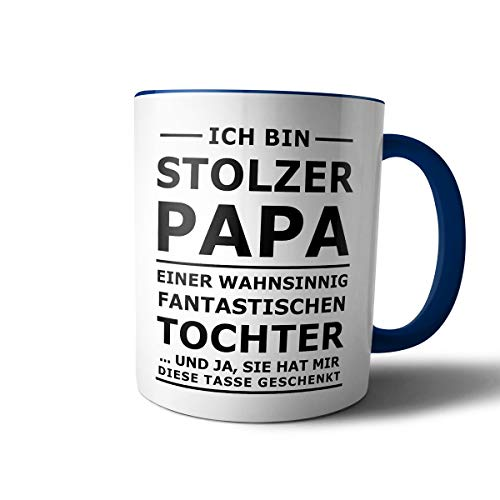 Geschenkedirekt creativgravur Tasse mit Spruch STOLZER Papa, STOLZE Mama Kaffeetasse Kaffeebecher Kaffeepot Frühstückstasse Bürotasse, Motiv:Motiv 07