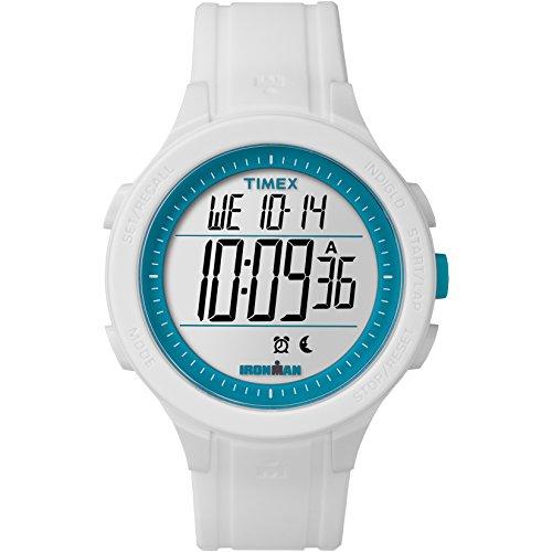 Timex Men's TW5M14800 Ironman Essential 30 White/Blue Silicone Strap Watch