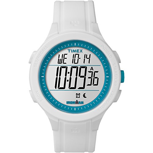 Timex Men's TW5M14800 Ironman Essential 30 White/Blue Silicone Strap Watch