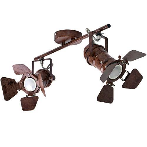 Retro Stil Decken Lampe Wohn Zimmer Spot Beleuchtung rost Flur Strahler verstellbar Globo 54650-2