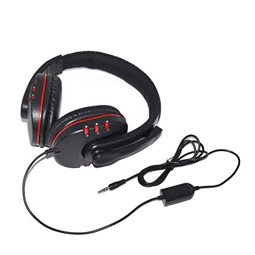 Preisvergleich Produktbild HermosaUKnight Kabelgebundene Gaming-Kopfhörer Bass Stereo Headsets mit Mikrofon für PS4 für Xbox-ONE-schwarz