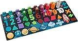 MUZIDP Número de Madera Puzzle Toy Sort Count Game Block Puzzle Set