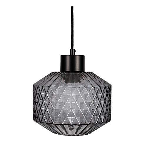 Pauleen 48125 Gleaming Smoke Pendelleuchte max25W E27 Pendellampe Kristall-Look Glas/Rauchglas/Schwarz 230V